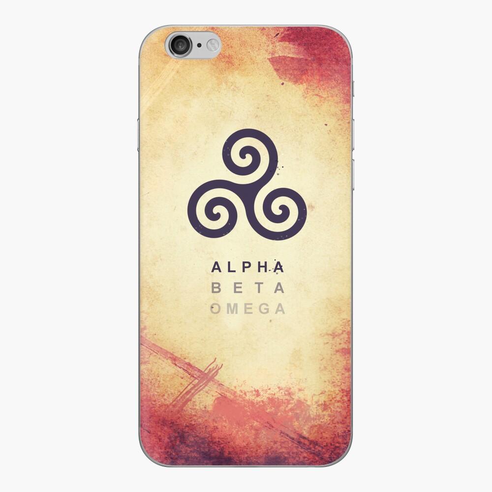 Alpha. Beta. Omega. iPhone Klebefolie