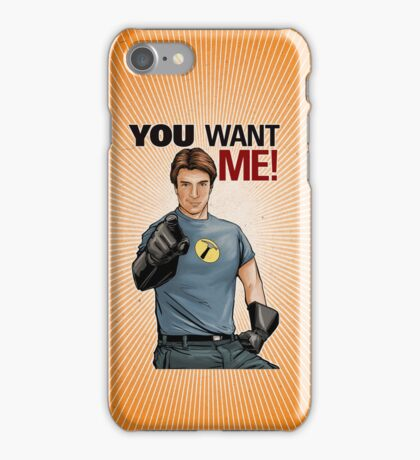 Captain Hammer - You Want Me iPhone Case/Skin