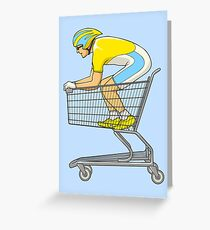 Retail Racer Greeting Card