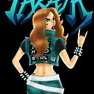 Thrash Metal Chick  by MetalheadMerch