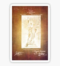 Statue If Liberty Original Patent By Bartholdi 1879 Sticker