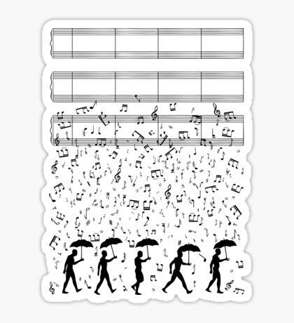 Singing in the Raaaain Sticker