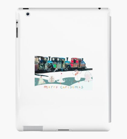 Happy Christmas for train lovers  iPad Case/Skin