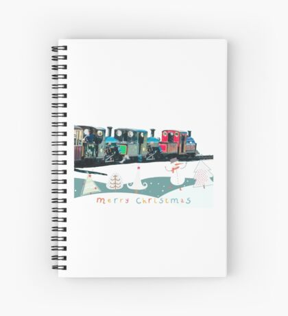 Happy Christmas for train lovers  Spiral Notebook