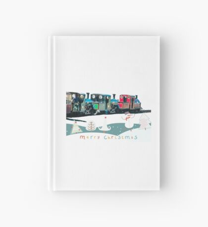 Happy Christmas for train lovers  Hardcover Journal