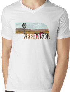 Nebraska Windmill Mens V-Neck T-Shirt