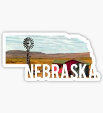 Nebraska Windmill Sticker