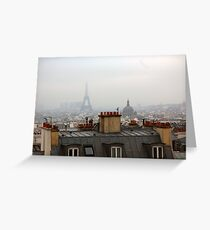 Cloudy day in Paris Greeting Card
