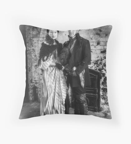 Victorian Couple Throw Pillow