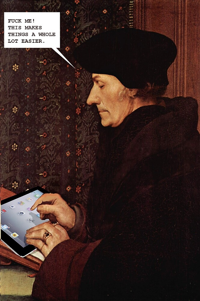 erasmus and the ipad by Loui  Jover