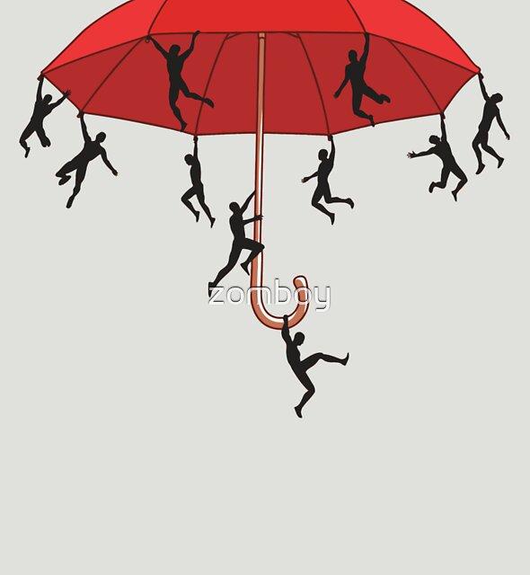 Umbrella Mayhem by zomboy