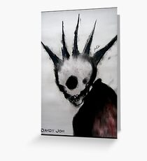 Punk Macabre Greeting Card