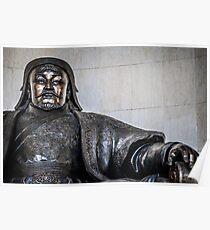 Chinggis Khan Protecting UB Poster