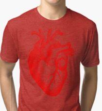 Oversized Anatomical Heart T-Shirt Tri-blend T-Shirt