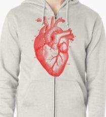 Oversized Anatomical Heart T-Shirt Zipped Hoodie
