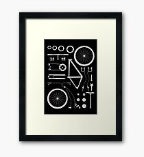 Bike Exploded Framed Print