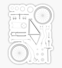 Bike Exploded Sticker