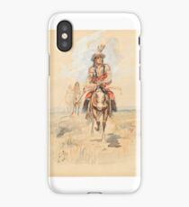 CHARLES M. RUSSELL (1864-1926) Indians Crossing the Plains iPhone Case/Skin