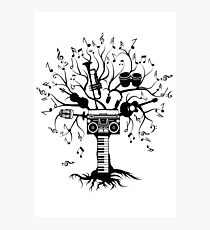 Melody Tree - Dark Silhouette Photographic Print