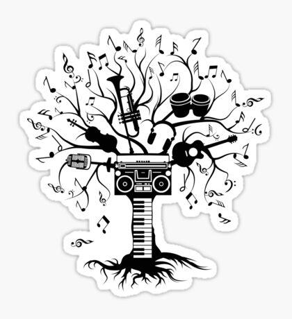 Melody Tree - Dark Silhouette Sticker