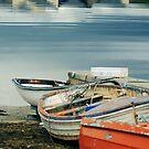 Boats at Bay by Lorren Francis