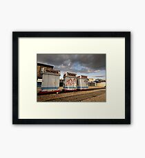 Ticket booths at Coney Island Framed Print