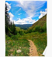 """Trail back from Booth Falls"" Vail, CO Poster"