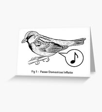 Passer Domesticus Inflatio Greeting Card