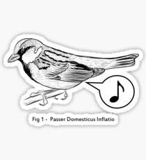 Passer Domesticus Inflatio Sticker