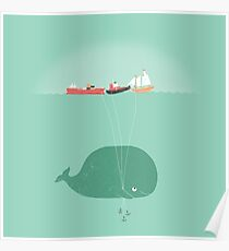 Whale Balloons Poster