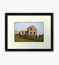 Abandoned Kansas Farm House Framed Print