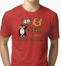 Cute 40th Birthday Gift For Women Tri-blend T-Shirt