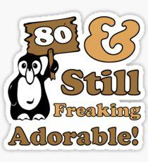 Cute 80th Birthday Gift For Women Sticker