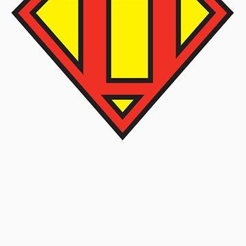 Super Initials Tee - D by NerdUniversitee