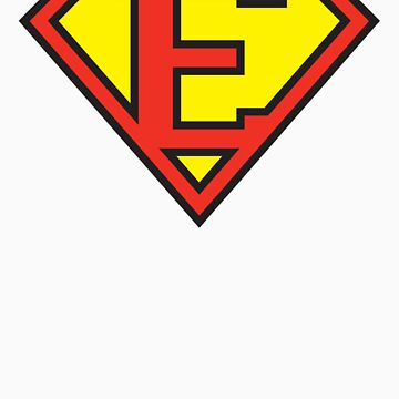 Super Initials Tee - E by NerdUniversitee