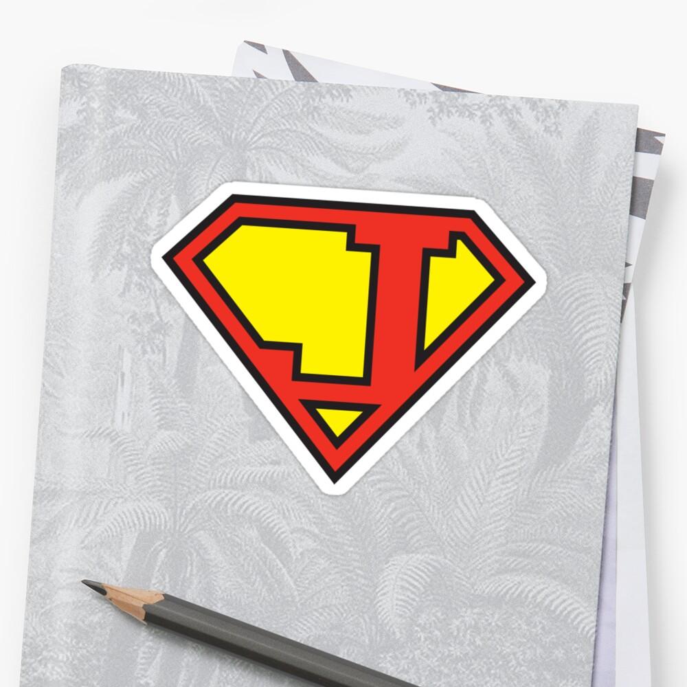 Super Initials Tee - J by NerdUniversitee