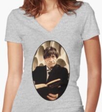 Patrick Troughton Shirt (2nd Doctor) Women's Fitted V-Neck T-Shirt