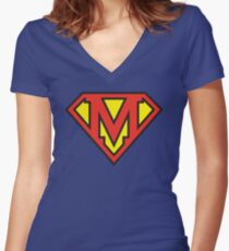 Super Initials Tee - M Women's Fitted V-Neck T-Shirt