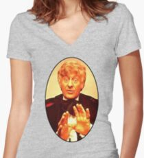 John Pertwee (3rd Doctor) Women's Fitted V-Neck T-Shirt