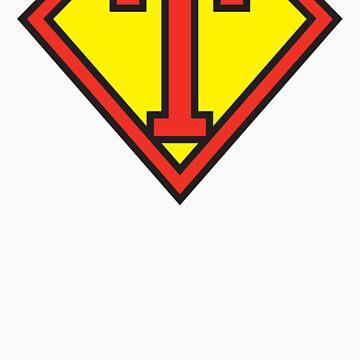 Super Initials Tee - T by NerdUniversitee