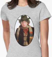 Tom Baker (4th Doctor) Womens Fitted T-Shirt