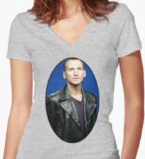Christoper Eccleston Women's Fitted V-Neck T-Shirt
