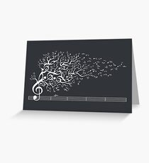 The Sound of Nature - White Greeting Card