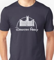 Downton Abbey / Disney //all white artwork// T-Shirt