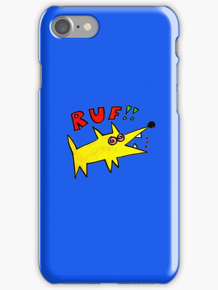 Ruf poinky dawg i phone case by Ollie Brock