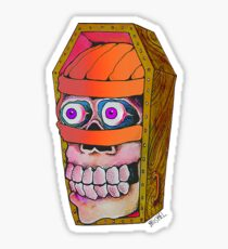 Mummy Casket Sticker