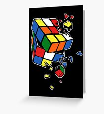 Exploding Cube Greeting Card