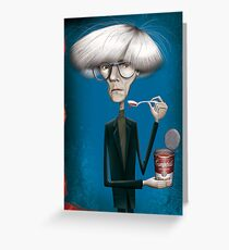Famous people greeting cards redbubble andy warhol greeting card m4hsunfo