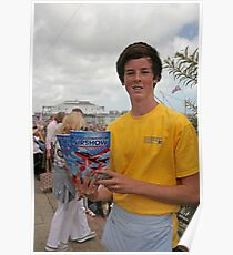 A programme seller at Airbourne in Eastbourne Poster