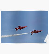 The Red Arrows fly upside down at Airbourne in Eastbourne Poster
